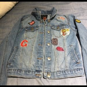 Patched Guess Jean/ Denim Jacket